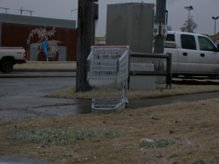 Shopping carts don�t know it�s cold